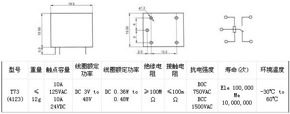 方权t73(4123) 电磁继电器