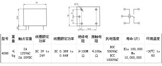 方权4098 电磁继电器