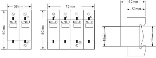 雷诺尔 rnu1电涌保护器