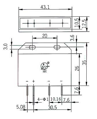 单相交流固态继电器,为单刀单掷—常开线路板安装式