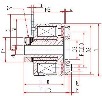 汽车电磁离合器rec-a-01a