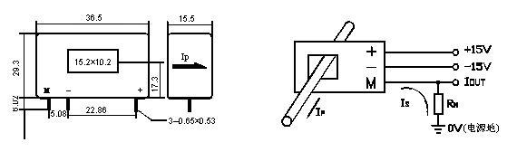 茶花csm100la系列霍尔电流传感器