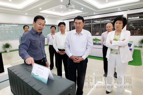 国家电力监管委员会副主席史玉波一行到青岛薛家岛电动汽车充换示范